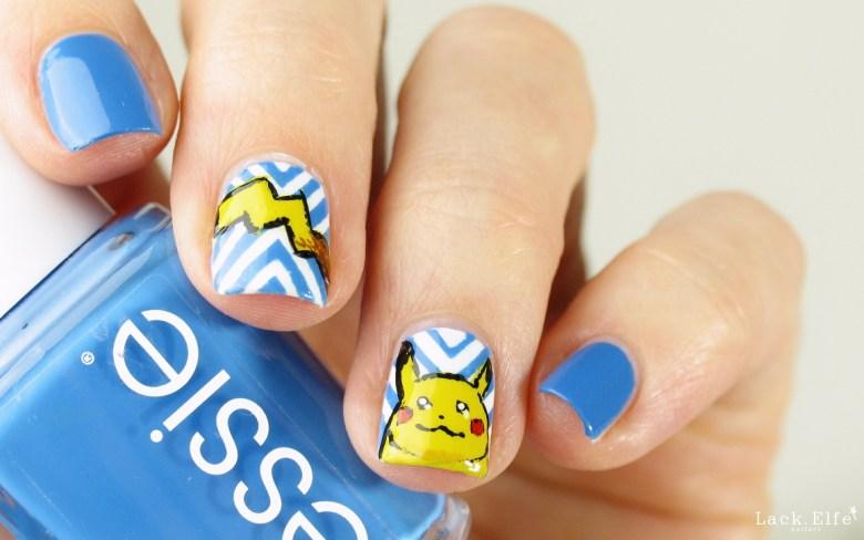 Pikachu Pokémon wirpinselnpokemon Pokemonnails nail art lackelfe lack.elfe