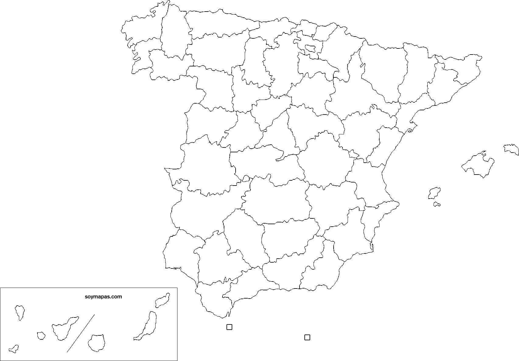 Mapas De Provincias De Espana Para Imprimir