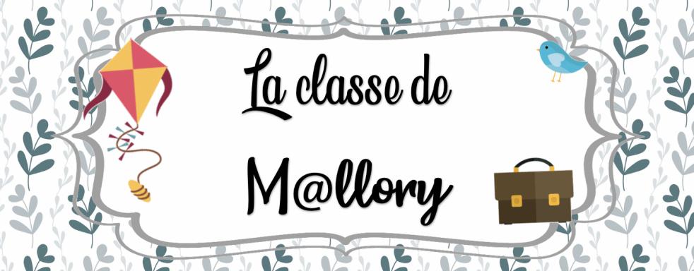 la classe de mallory ressources et