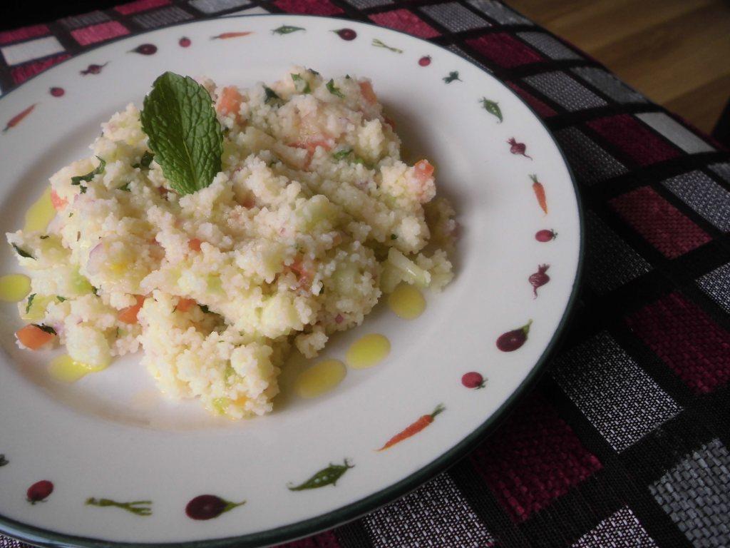 Receta Ensalada con cuscus (tabule)