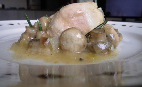 Receta pollo al ajillo con champinones