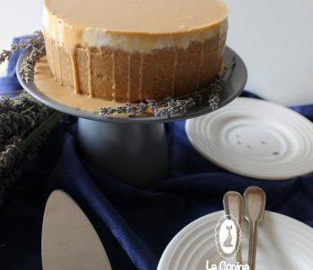 Tarta de queso con té chai y base de mantecados