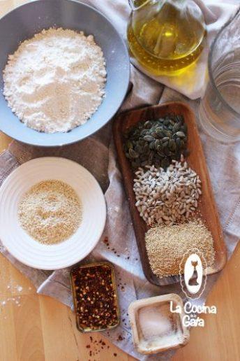 Ingredientes para nuestras galletas de semillas