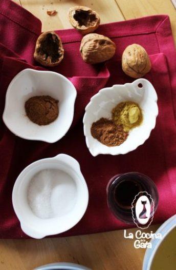 Ingredientes para la tarta Colibrí