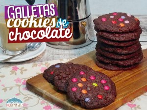 Riquísimas galletas cookies de chocolate
