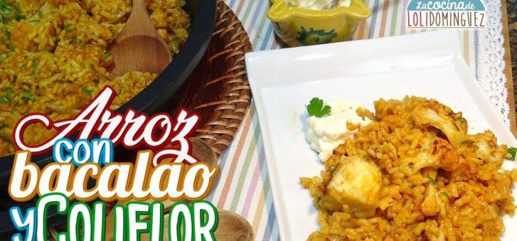 Arroz con bacalao y coliflor ¡Un plato riquísimo y fácil!