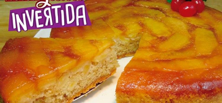 Tarta de manzana invertida o bizcocho de manzana al caramelo
