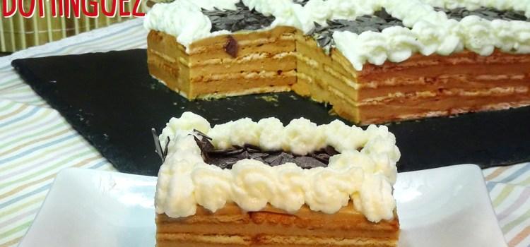 Tarta de galletas con crema de café (moka). SIN HORNO