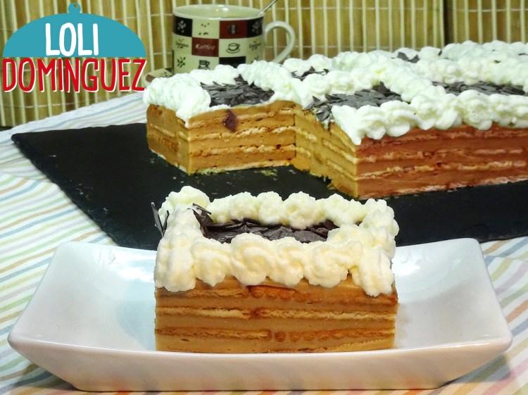 Fabulosa Tarta de galletas con crema de café (moka). SIN HORNO