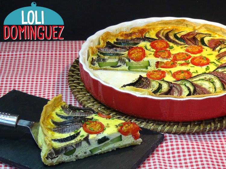 Tarta de verduras al horno SUPER FACIL. Una riquísima tarta o quiche de verduras