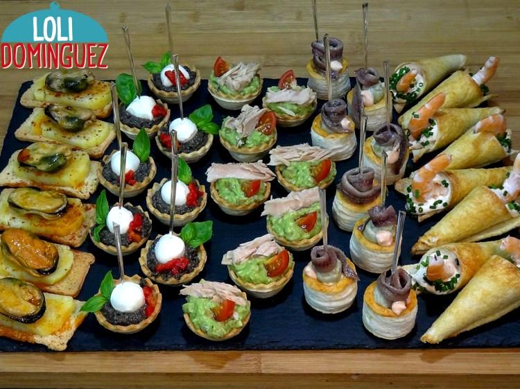 Canapés o aperitivos variados ESPECIAL NAVIDAD Muy fáciles. Irresistiblemente deliciosos y con un aspecto que dice cómeme