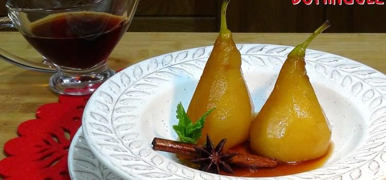 Peras al vino dulce y especias Receta tradicional ESPECIAL NAVIDAD