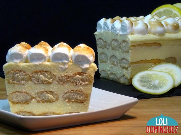 Tiramisú de Limón, SIN HORNO Y MUY FÁCIL. De sabor suave a limón, textura cremosa y con los bizcochos jugosos, mojados en un almíbar ligero de Limonchelo