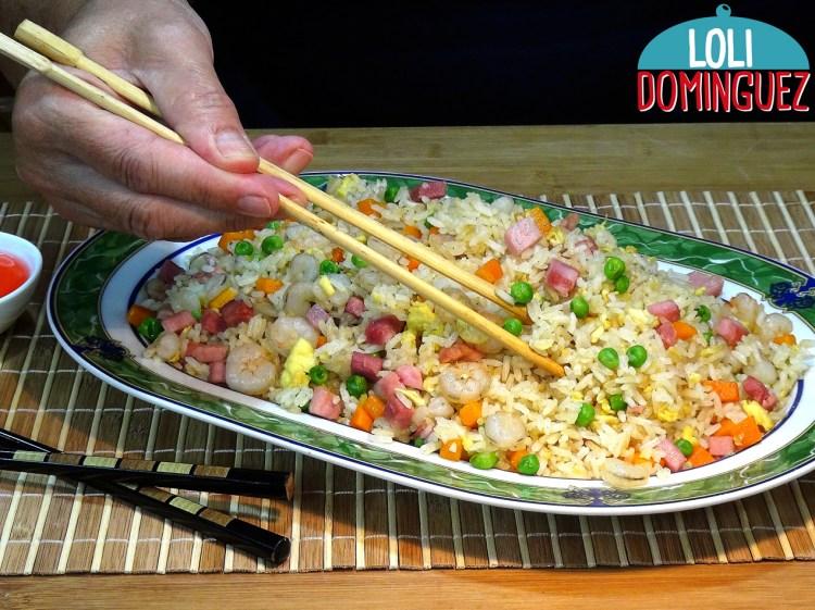 ARROZ FRITO 3 DELICIAS, VERÁS LO FÁCIL Y RIQUÍSIMO QUE ESTÁ. Cómo hacer arroz frito 3 delicias paso a paso de forma fácil y rápida