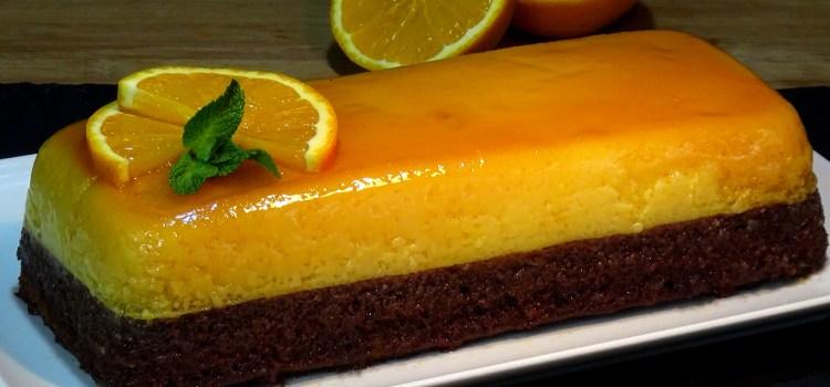 CHOCOFLAN DE NARANJA Y CHOCOLATE, UN PASTEL DIFERENTE Y DELICIOSO. La combinación de sabores hace de esta receta un placer para los amantes del chocolate y el toque acido de la naranja