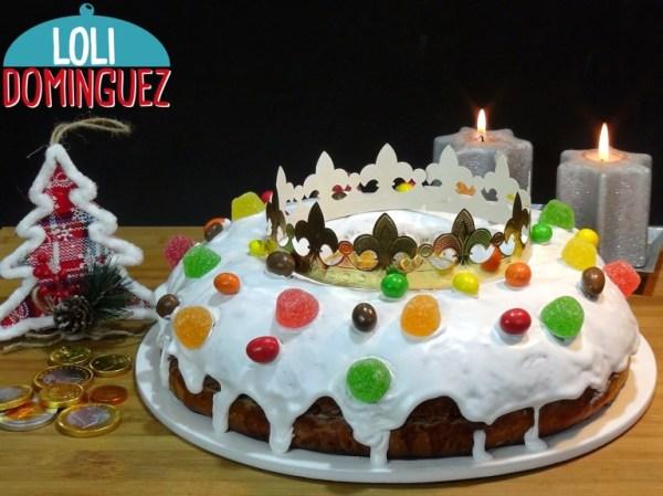 Roscón de Reyes con glaseado real