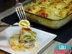 POLLO RELLENO CON VERDURAS AL HORNO CON SALSA BECHAMEL. ¡Que rica esta esta receta!, no dejes de probarla, la mezcla de pollo, verduras y salsa bechamel es todo un espectáculo