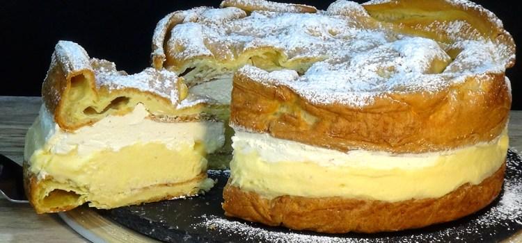 TARTA KARPATKA (FAMOSA TARTA POLACA) ¡IMPRESIONANTE EN CUALQUIER OCASIÓN! Una tarta diferente que seguro que hará las delicias de toda la familia, estupenda opción para un día de fiesta por su sabor, textura y porque se puede tener hecha con antelación.