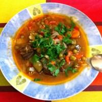 Lengua de Ternera Estofada con Verduras.