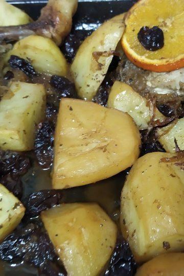 pollo en el horno a la naranja