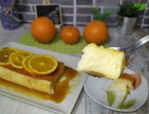 FLAN DE NARANJA con leche condensada y kefir