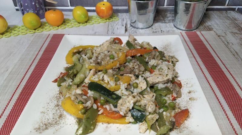 arroz con verduras en olla gm h y olla gm g
