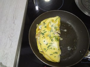 receta de omelette de jamón york y queso