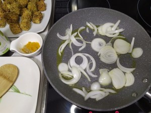 como hacer receta de tofu frito en salsa de soja con arroz