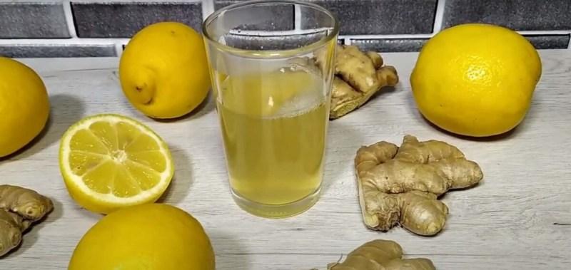 Infusión o Té de Limón con Jengibre