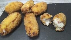 croquetas jamon sin gluten en el microondas