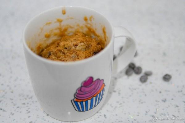 mug cake de pepitas de chocolate