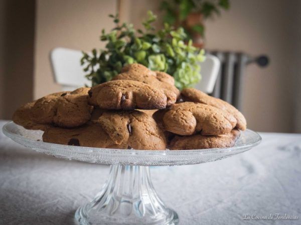 Cookies caseras con chocolate