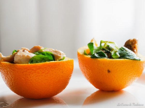 Tartaletas de pollo a la naranja