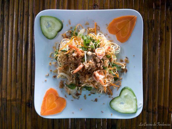 Receta vietnamita: Ensalada de flor de banana