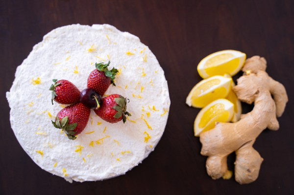 Tarta de limón y jengibre