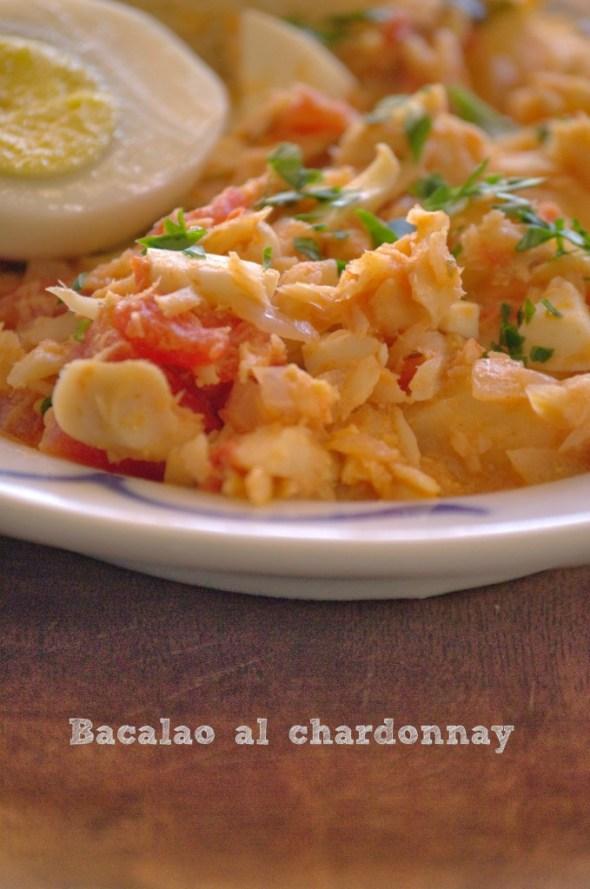 Bacalao al chardonnay - La cocina de Vero