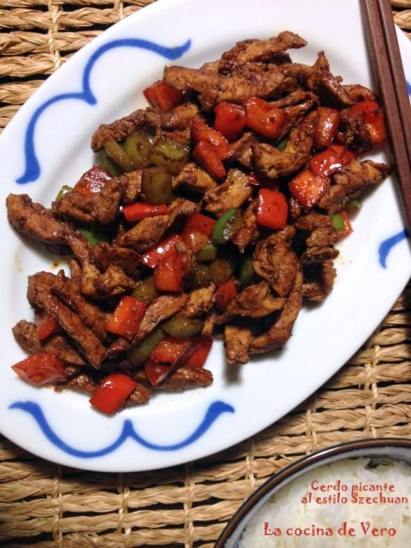 Cerdo picante estilo Szechuan - La cocina de Vero