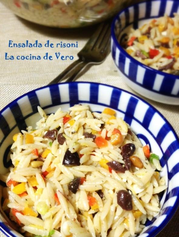 Ensalada de risoni - La cocina de Vero