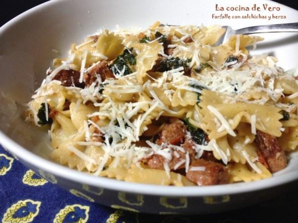 Pastas con salchichas y kale - La cocina de Vero