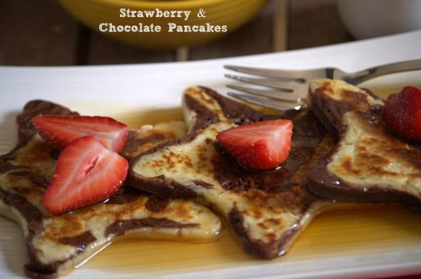 Strawberry and Chocolate Pancakes - La cocina de Vero