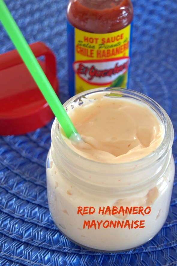 This Red Habanero Mayonnaise is a must try with sandwiches, salads, sweet potatoes, French fries, and more #SauceOn #Shop