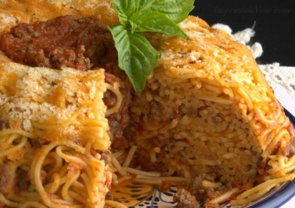corte-corona de espagueti