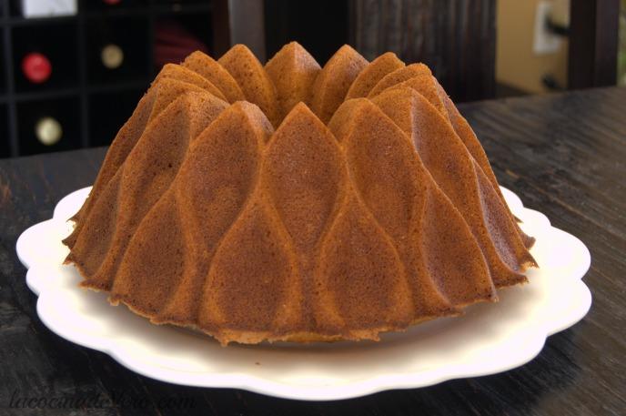 Bundt cake de plátano y gofio