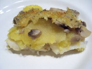 bacalao con patatas y champiñones