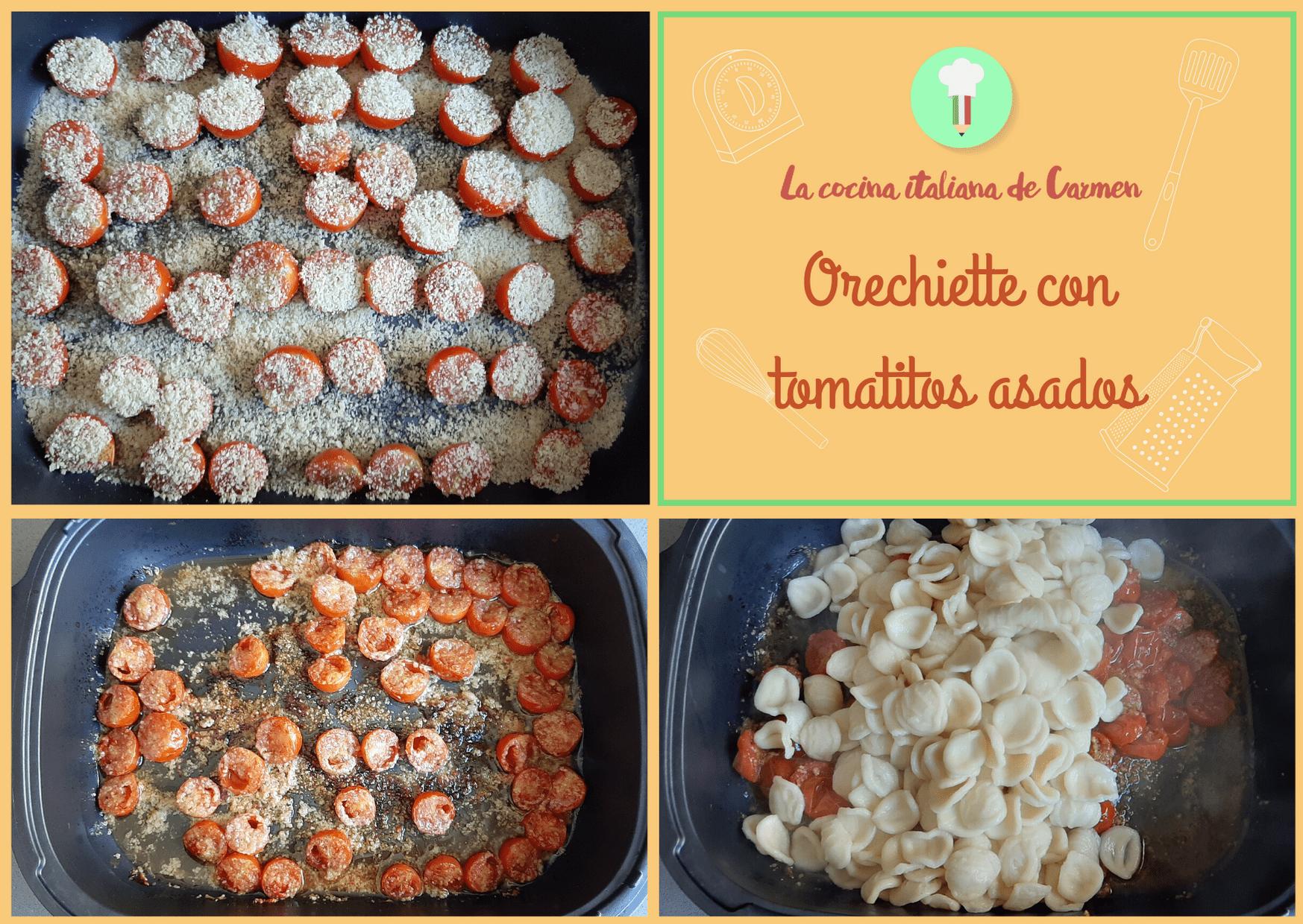 Orecchiette con tomatitos asados