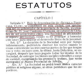 Imagen Estatuto fundación Sevilla FC