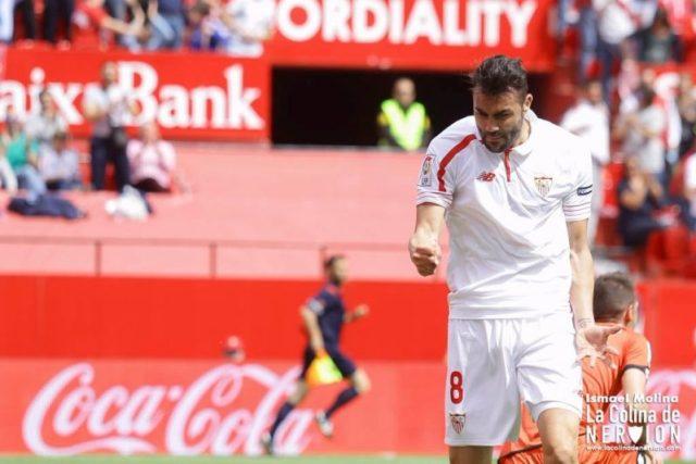 Iborra celebra el gol anotado ante el Deportivo |Imagen: Ismael Molina