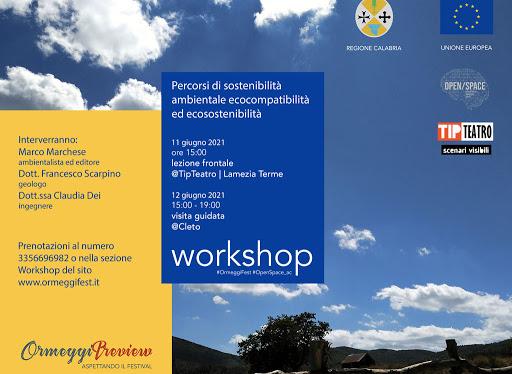 Lamezia, workshop su progetti di sostenibilità ambientale al Teatro Tip