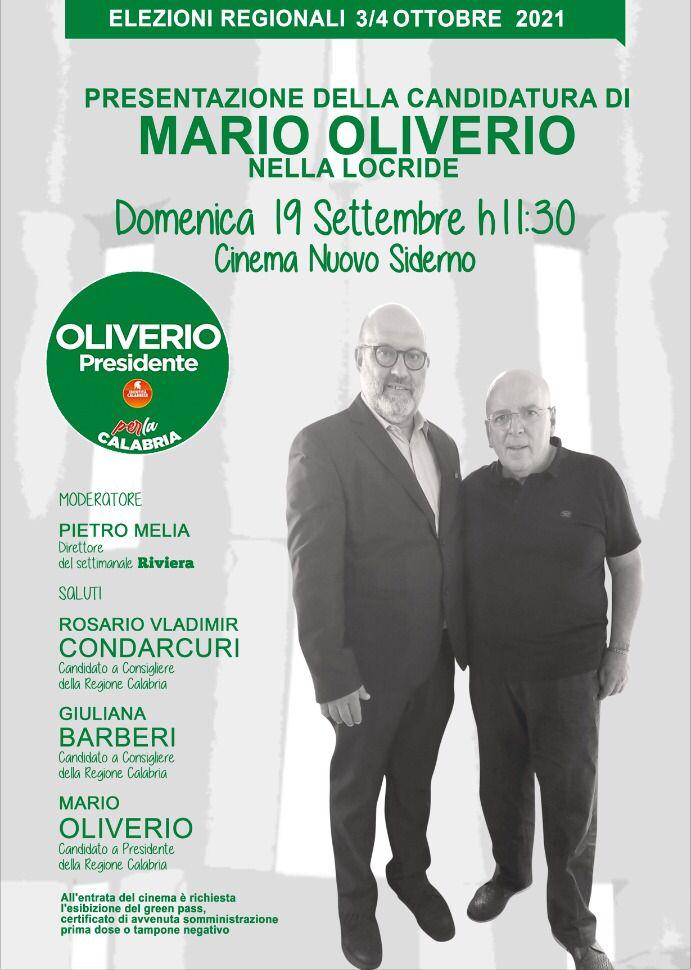 SIDERNO: Mario Oliverio presenta la sua candidatura nella Locride
