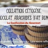 Collation cétogène au chocolat et aux arachides (fat bomb)